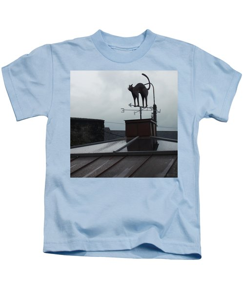 Cat On A Cool Tin Roof Kids T-Shirt