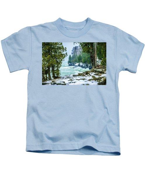Cave Point #5 Kids T-Shirt