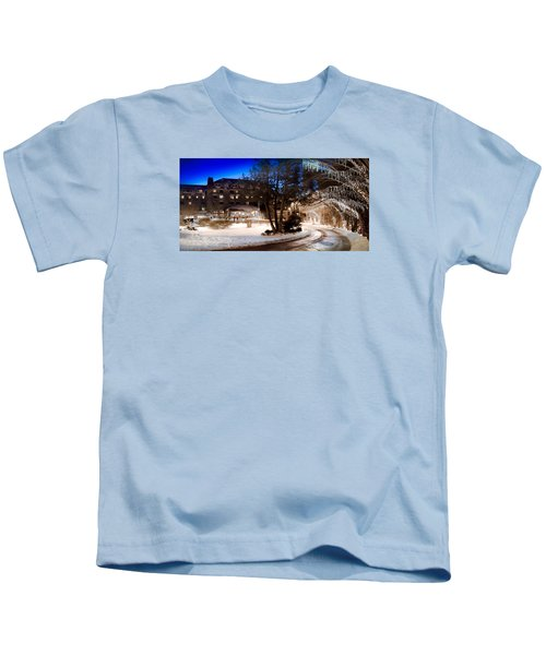 Celebrate The Winter Night Kids T-Shirt