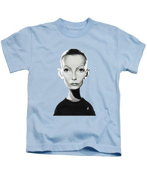 Celebrity Sunday - Greta Garbo Kids T-Shirt