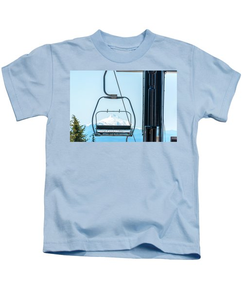 Chairlift And Mount Jefferson Kids T-Shirt