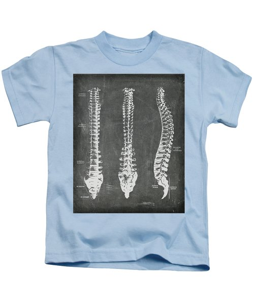 Chalkboard Anatomical Spines Kids T-Shirt