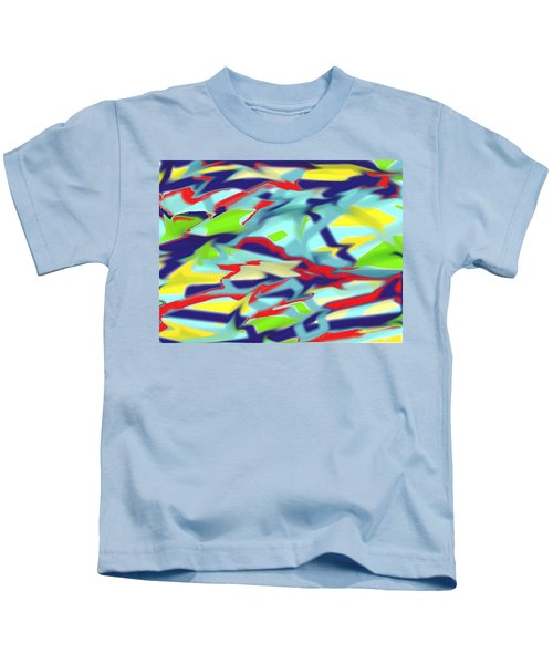 Chaos Into Form Blue Kids T-Shirt
