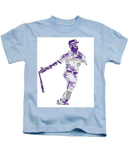 Charlie Blackmon Colorado Rockies Pixel Art 10 Kids T-Shirt