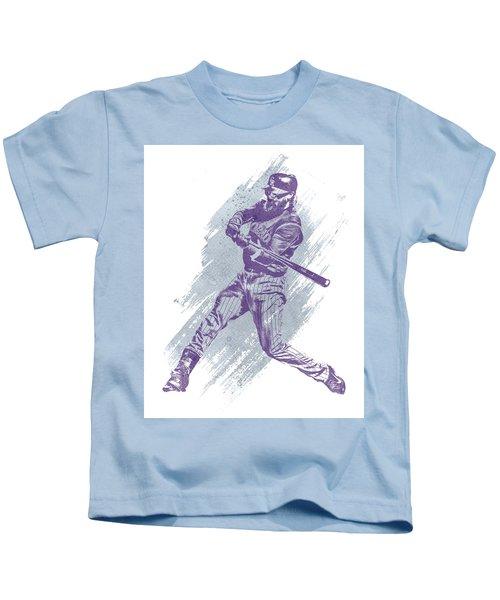Charlie Blackmon Colorado Rockies Water Color Art 1 Kids T-Shirt