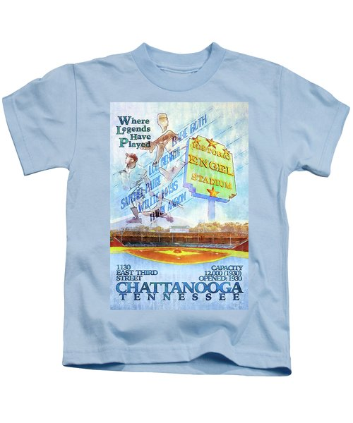 Chattanooga Historic Baseball Poster Kids T-Shirt