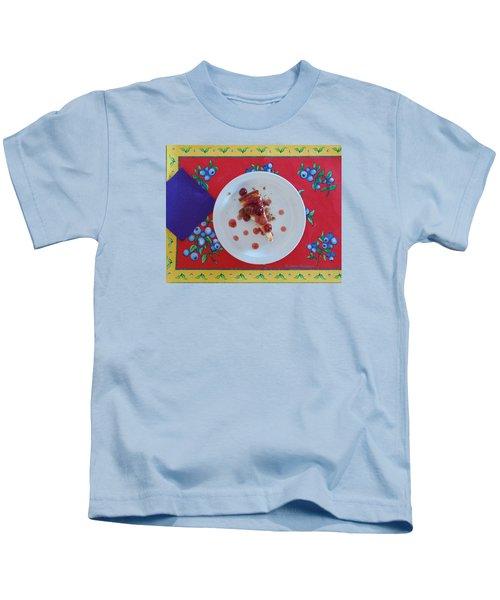 Cheese Cake With Cherries Kids T-Shirt