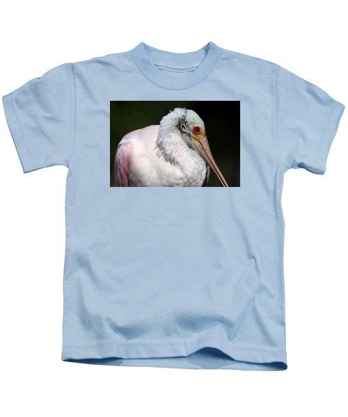 Cheese Puff Face - Roseate Spoonbill Kids T-Shirt