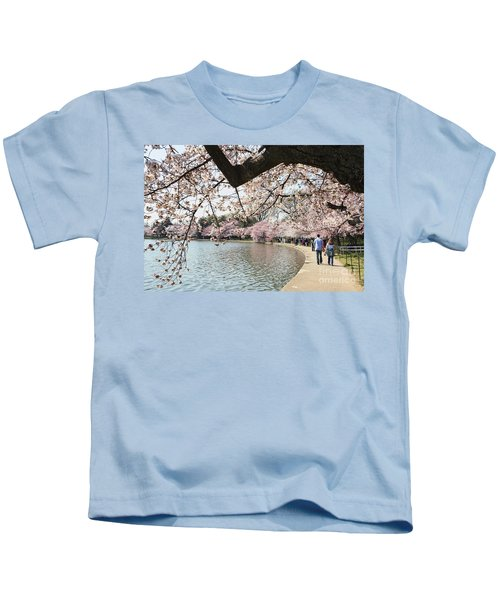 Cherry Blossom Stroll Around The Tidal Basin Kids T-Shirt