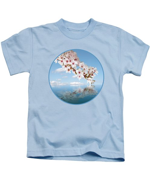 Cherry Cascade Reflection Kids T-Shirt