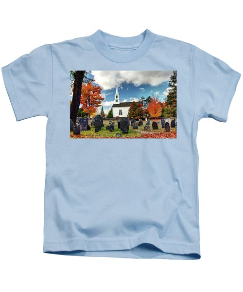 Chester Village Cemetery In Autumn Kids T-Shirt