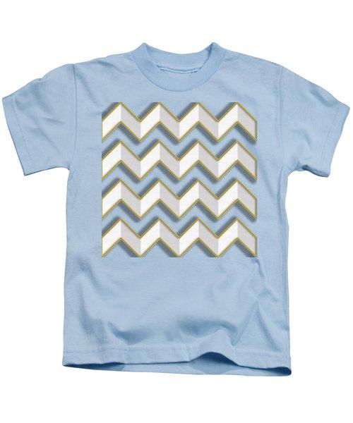 Chevrons - Gold Edges Kids T-Shirt
