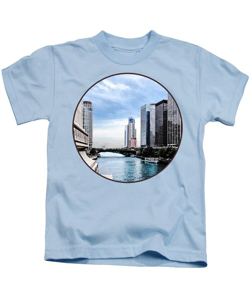 Chicago - View From Michigan Avenue Bridge Kids T-Shirt