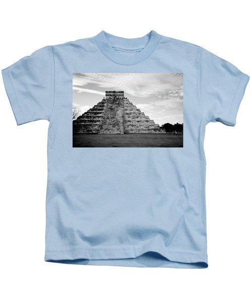 Chichen Itza B-w Kids T-Shirt