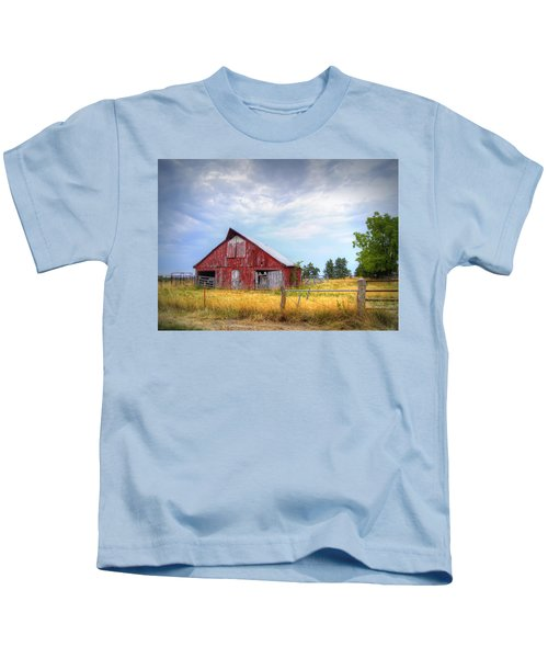 Christian School Road Barn Kids T-Shirt