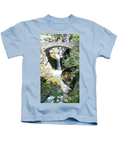 Christine Falls - Mt Rainier National Park Kids T-Shirt