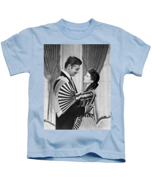 Clark Gable And Vivien Leigh Kids T-Shirt