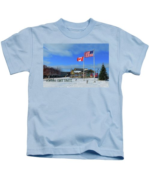 Clayton Seasons Greetings Kids T-Shirt