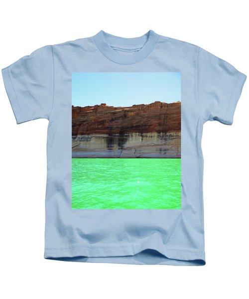 Cliff At Lake Powell Kids T-Shirt