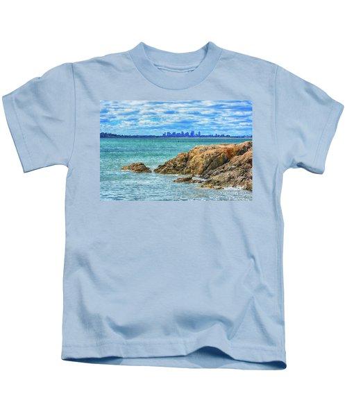 Cloudy Boston Kids T-Shirt