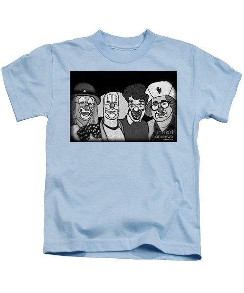 Clowns Bw Kids T-Shirt
