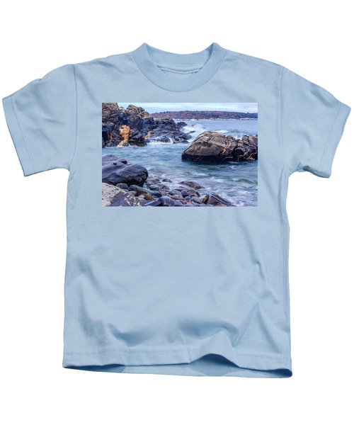 Coast Of Maine In Autumn Kids T-Shirt