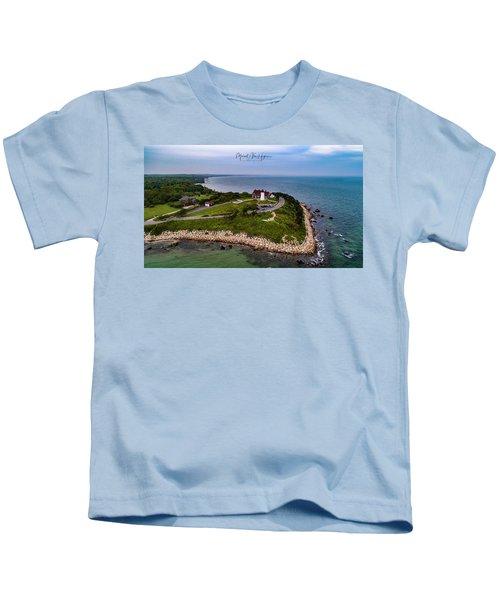 Coastal Nobska Point Lighthouse Kids T-Shirt