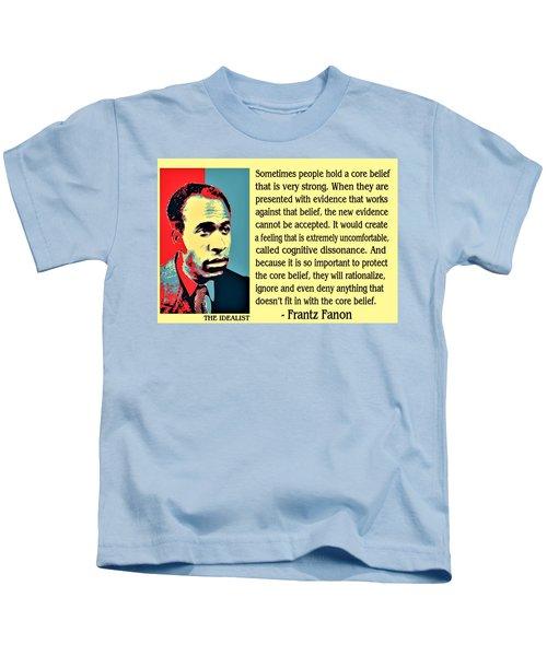 Cognitive Dissonance Frantz Fanon Kids T-Shirt