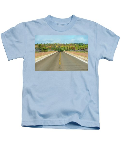 Color At Roads End Kids T-Shirt