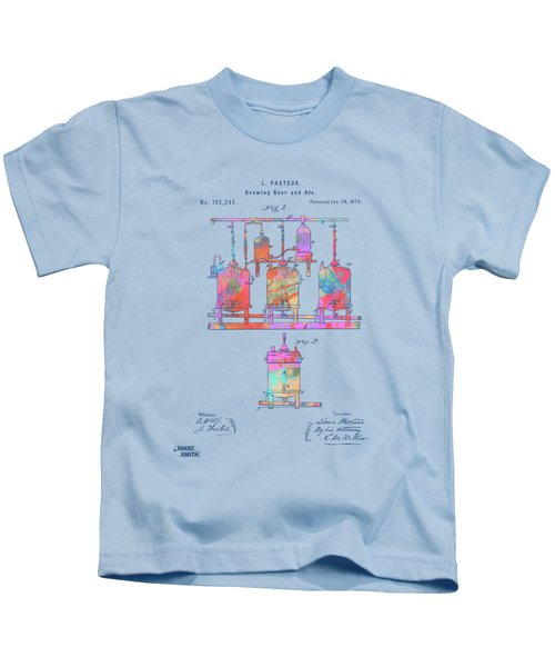 Colorful 1873 Brewing Beer And Ale Patent Artwork Kids T-Shirt