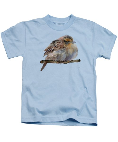 Colourful Sparrow Kids T-Shirt by Bamalam  Photography