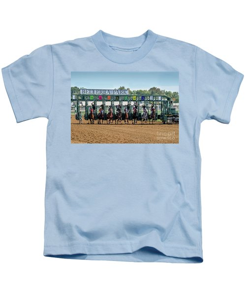 Coming Out Of The Gate Kids T-Shirt