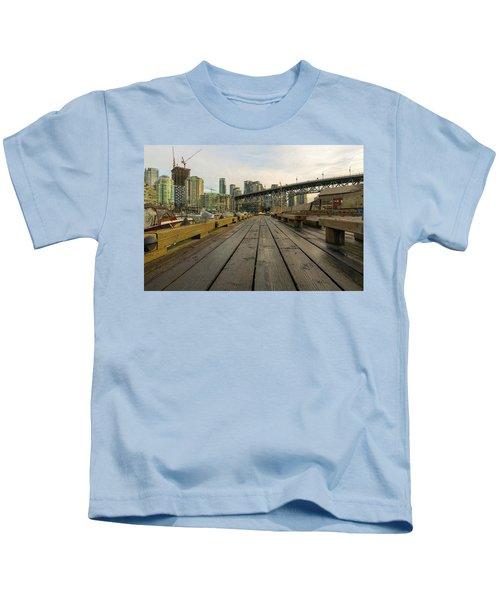 Condominium Buildings Along Granville Island Vancouver Bc Kids T-Shirt