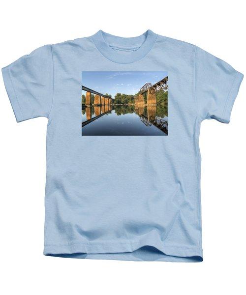 Congaree River Rr Trestles - 1 Kids T-Shirt