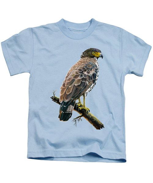 Congo Serpent Eagle Kids T-Shirt by Anthony Mwangi