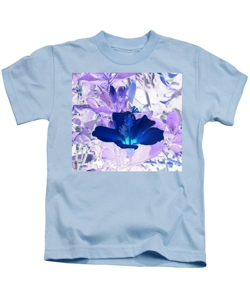 Cool Blue Hawaiian Hibiscus Kids T-Shirt