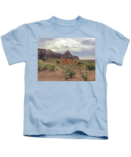 Copper Mallow And Pale Evening Primrose Kids T-Shirt