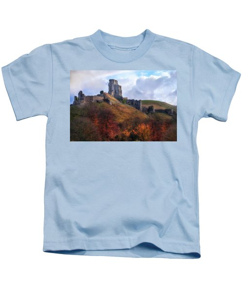 Corfe Castle - England Kids T-Shirt