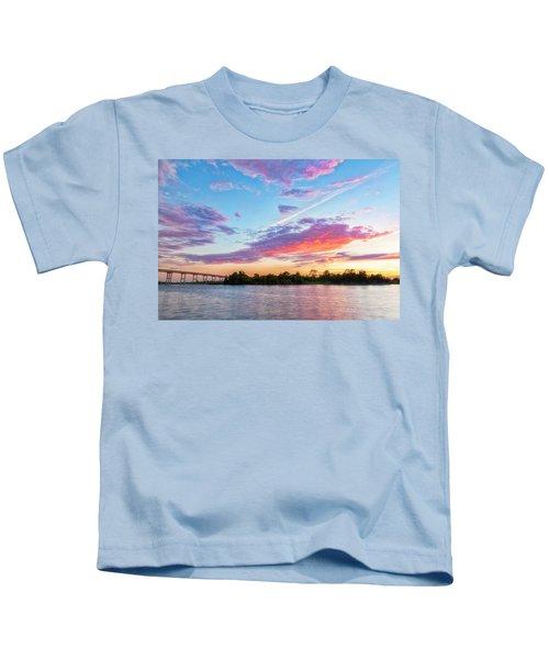 Cotton Candy Sunset Kids T-Shirt