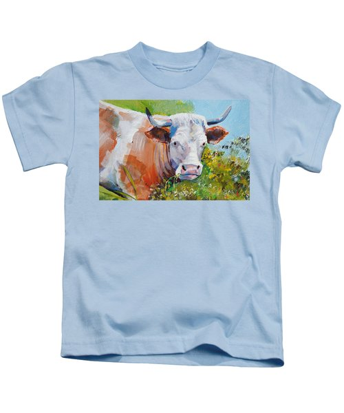 Cow With Horns Kids T-Shirt