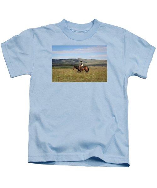 Cowboy Landscapes Kids T-Shirt