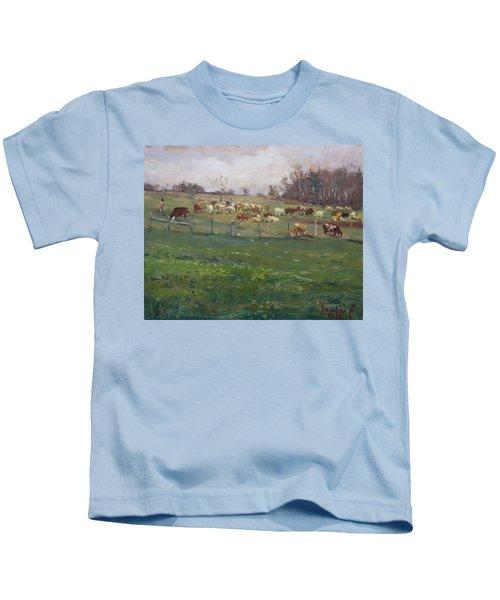 Cows In A Farm, Georgetown  Kids T-Shirt