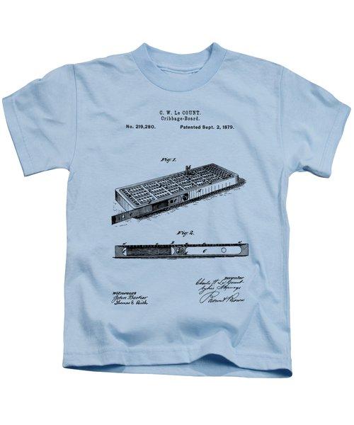 Cribbage Board 1879 Patent Art Transparent Kids T-Shirt