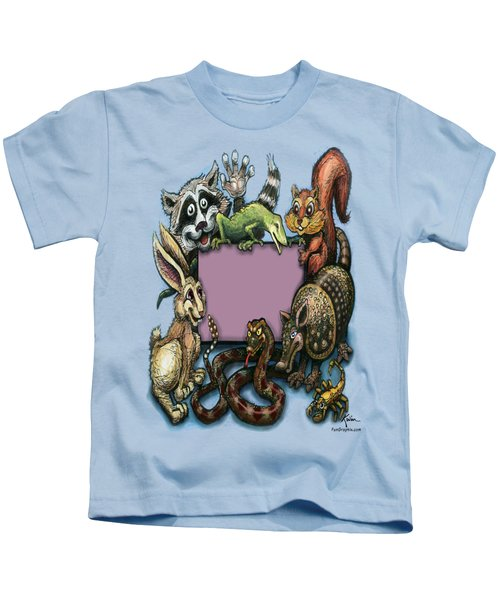 Critters Kids T-Shirt by Kevin Middleton