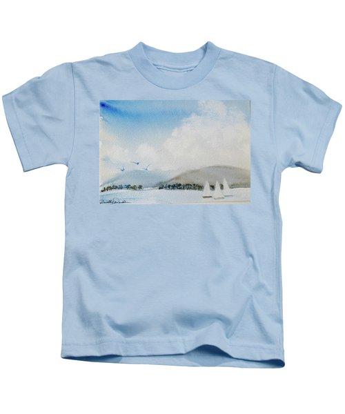 Cruising In Company Along The Tasmania Coast  Kids T-Shirt
