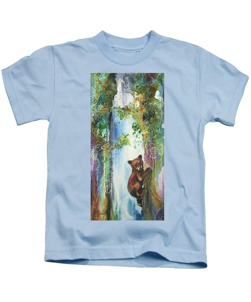 Cub Bear Climbing Kids T-Shirt