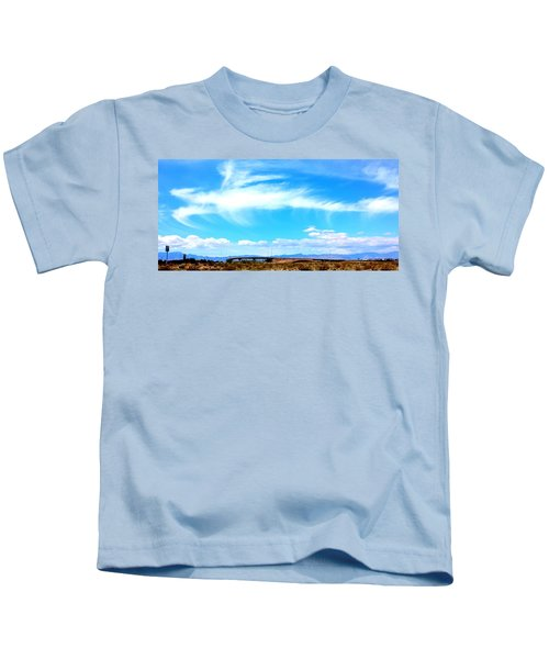 Dragon Cloud Over Suburbia Kids T-Shirt