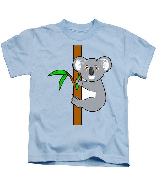 Koala With Eucalyptus Snack Kids T-Shirt by A