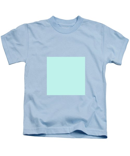 Cyan Ultra Soft Pastels Colour Palette Kids T-Shirt
