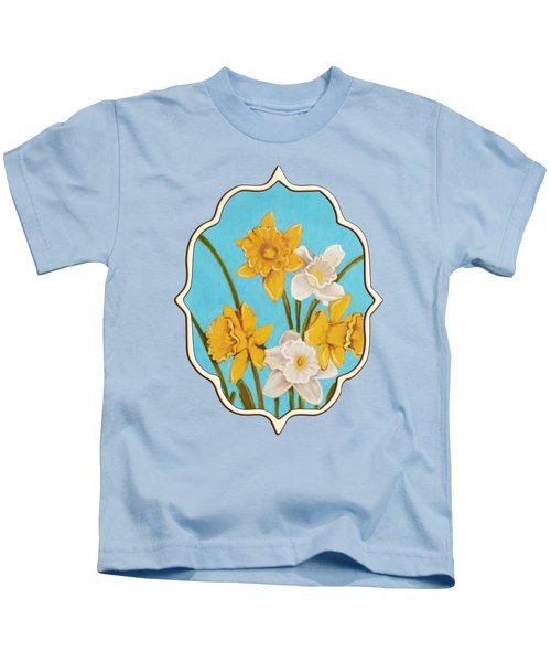 Daffodils Kids T-Shirt by Anastasiya Malakhova